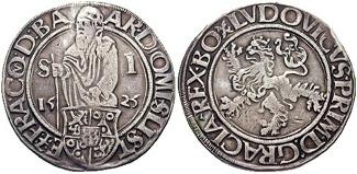 Jáchymovský tolar z roku 1525